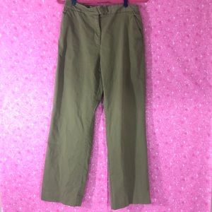 Talbots Stretch Olive 8 full length chino pants
